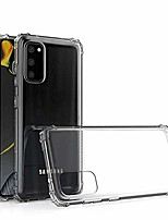 cheap -phone case for samsung galaxy s20 case-compatible with samsung s20 case clear is slim shockproof shock absorbing scratch resistant drop protective soft flexible tpu s20 case
