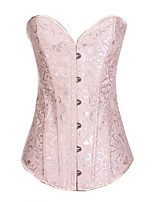 cheap -women's vintage corset lace up back bustier-m apricot