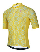 cheap -Men's Short Sleeve Cycling Jersey Yellow Fruit Bike Top Mountain Bike MTB Road Bike Cycling Breathable Quick Dry Sports Clothing Apparel / Stretchy / Athletic