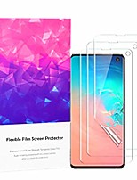 cheap -[3pack] screen protector for samsung galaxy s10 6.1 inch, folice full coverage tpu hydrogel film screen protector with edge to edge protection/highly responsive/case friendly (3 pack)