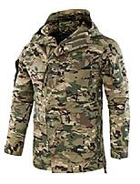 cheap -men's utility full zip hooded outdoor camo print jacket rain coat (medium, green camo)