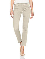 cheap -women's petite peri pull on straight leg pant, stone twill, 0p