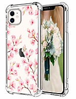 cheap -iphone 11 cherry clear case, soft transparent cover iphone 11 case 6.1 inch, full body protection, anti-scratched & waterproof, protective shockproof rugged cover iphone 11 case 2019