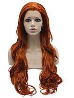 cheap -mxangel long wavy reddish blonde synthetic lace front wig