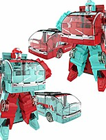 cheap -kids toys, diecast mini bus vehicle deformation robot transforming model kids toy gift puzzles & magic cubes perfect fun time play activity gift for boys girls, red green