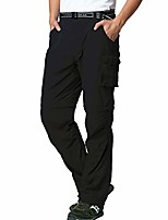 cheap -pants for men outdoor hiking quick-dry, convert lightweight uv 53+ fishing travel camping pants black