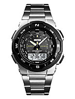 cheap -business waterproof wrist watch men watch fashion quartz sports watches with stainless steel band silver