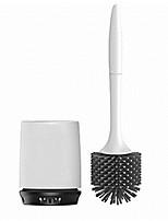 cheap -Toilet Toilet Brush Set Soft Bristle Toilet Cleaning Brush with Base Wash Toilet Brush Long Handle Cleaning Brush