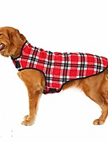 cheap -plaid vest dog cotton clothing pet costume dog winter windproof coat cold weather british style classic jacket for small medium large dogs