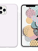 cheap -iphone 11 pro max case liquid silicone soft gel rubber slim lightweight microfiber lining cushion cover shockproof protective phone case for iphone 11 pro max 6.5-inch 2019 white