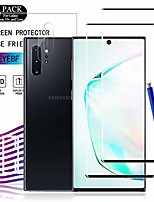 cheap -galaxy note 10 plus hd clear tempered glass screen protector+camera lens protectors by ye, [2+2 pack] [case-friendly] [9h hardness] full coverage screen protector cover shield