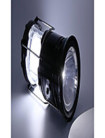 cheap -rechargeable led camping lantern flash light with solar and usb charging (black, large)