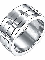 cheap -mens spinner rings womens, wedding bands, fidget ring, stainless steel, silver, size 6