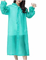 cheap -unisex raincoat for outdoor sports travel, thick transparent hooded poncho evc portable windbreaker (green)