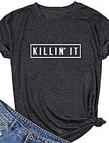 cheap -women killin it graphic cute t shirt funny tees gray small