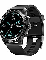 cheap -smart watch for android phones, ios phones fitness tracker with heart rate monitor, bluetooth sports monitor tracker, digital smartwatch for women men, 5atm waterproof (tpu band black)