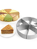 cheap -Sales Triangle Cake Mold Stainless Steel 6-Pieces Round Mousse Ring Cake Baking Mold