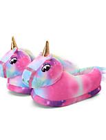 cheap -Adults' Kigurumi Pajamas Slippers Unicorn Flying Horse Onesie Pajamas Cotton Purple Cosplay For Men and Women Animal Sleepwear Cartoon Festival / Holiday Costumes / Shoes