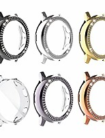 cheap -case compatible with galaxy watch active 2 shining case screen protector diamond pc scratch resistant slim cover for galaxy watch active 2 44mm (6-pack, active 2-44mm)