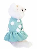 cheap -pet dress, fashion polka dot puppy cat shirt pet costume cat skirt jumpsuit…