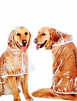 cheap -dog raincoat pet rain jacket transparent waterproof hooded clothes puppy pet rainwear transparent orange edge xs
