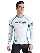 cheap -SABOLAY Men's Rash Guard Sun Shirt Windproof Breathable Quick Dry Long Sleeve Swimming Surfing Water Sports Patchwork Summer / Stretchy