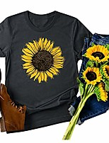 cheap -t shirts for women plus size,graphic tees for women trendy casual sunflower print short sleeve pullover crewneck t shirt shirts tops blouse