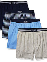 cheap -men's knit boxer, cruise navy/cruise navy multi stripe/harbor island blue/andover heather, x large