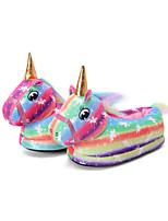cheap -Adults' Kigurumi Pajamas Slippers Unicorn Flying Horse Onesie Pajamas Cotton Rainbow Cosplay For Men and Women Animal Sleepwear Cartoon Festival / Holiday Costumes / Shoes
