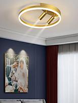 cheap -40cm LED Ceiling Light Nordic Modern Black Gold Circle Design Flush Mount Lights Metal Painted Finishes Nature Inspired 220-240V