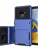 cheap -galaxy note 9 case,  note 9 wallet case with flip hidden credit card holder id slot hard protective cover for samsung galaxy note 9 6.4 inch (2018) blue
