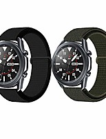 cheap -acestar nylon bands compatible with samsung galaxy watch 3 band 45mm, 22mm soft nylon wristband replacement strap compatible for galaxy watch 3 45mm (black+army green, 45mm)