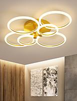 cheap -2/3/5/6 Heads LED Ceiling Light Circle Nordic Gold Acrylic Exterior Lighting Living Room Ceiling Lamp Simple Modern Art ceiling Light Luxury LED Bedroom Light AC220 V