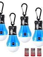 cheap -led tent light for caming, battery included 150 lumens led hanging light bulbs for outdoor fishing, hiking, camping, backpacking, emergency, hurricane, storm,outage (blue,4-pcs)