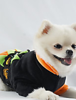 cheap -Dog Cat Costume Pumpkin Funny Halloween Casual / Daily Winter Dog Clothes Puppy Clothes Dog Outfits Breathable Black Costume for Girl and Boy Dog Polyster XS S M L XL XXL
