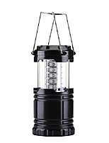 cheap -led lantern flashlights - camping lantern - portable outdoor lantern (black, collapsible) (1 pack)