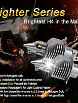 cheap -2Pcs Fighter LED Car Bulb Car Headlight LED H4 Car CSP Diode LED Fog Lights Headlight Bulbs Canbus 12V White