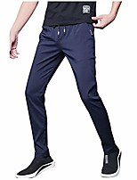 cheap -men's sweatpants casual loose plush liner thick winter warm sport fitness running home trousers (28, blue)