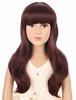 cheap -child long wave girls cosplay wig with bangs halloween costumes anime party wig (brown)