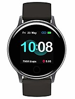"cheap -smart watch,  uwatch 2s fitness tracker heart rate monitor, activity tracker with 1.3"" touch screen, 5atm waterproof pedometer smartwatch sleep monitor for iphone and android."