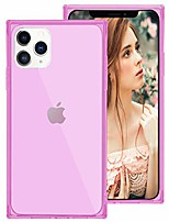 cheap -for iphone 12 pro max case square,for iphone 12 pro max case for girls women,crystal clear cute design soft silicone protective case with reinforced edges corners for iphone 12pro max,pink