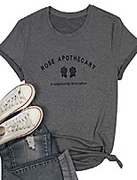 cheap -rose t-shirts women rose apothecary letter printed shirt funny rose graphic summer short sleeve tops