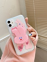 cheap -Case For Apple iPhone 12 / iPhone 12 Mini / iPhone 12 Pro Max Shockproof / with Stand Back Cover Animal / Cartoon TPU