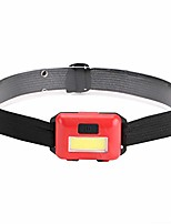 cheap -headlamp - 3 mode - bright light rechargeable flashlight- led adjustable headband head lamp - outdoor camping accessories (red)