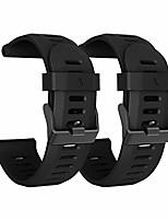 cheap -compatible with fenix 5x bands, 26mm width soft silicone watch strap for fenix 5x/fenix 3/fenix 3 hr-(black)
