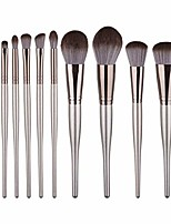 cheap -brushes set,10 pcs wooden handle makeup brush powder base powder paint set makeup tools