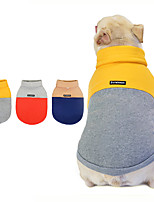 cheap -Dog Coat Hooded Shirts Tracksuit Bear Thick Velvet Casual / Daily Dog Clothes Puppy Clothes Dog Outfits Warm Yellow Blue Orange Costume for Girl and Boy Dog Fleece S M L XL XXL