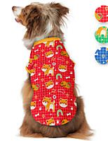 cheap -Dog Shirt / T-Shirt Animal Printed Animals Casual / Daily Dog Clothes Puppy Clothes Dog Outfits Breathable Red Blue Green Costume for Girl and Boy Dog Polyster S M L XL