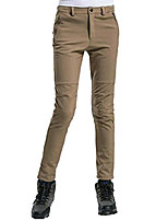 cheap -women's basic outdoor gore-tex pants thicken ski mountaineering soft shell windproof warm fleece pants khaki