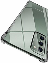 """cheap -case for samsung note 20 5g, crystal clear slim protective cover with 4 reinforced corners bumper flexible transparent tpu for samsung galaxy note 20 5g(2020) 6.7"""""""